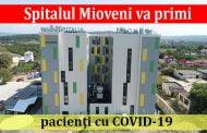 Spitalul Mioveni va primi pacienţi cu COVID-19