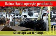 Până pe 5 aprilie uzina Dacia oprește producția