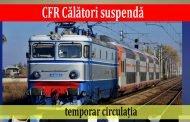 CFR Călători suspendă temporar circulația