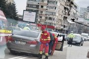 Accident provocat de un taximetrist!