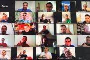 Iulian Călin şi Cătălin Popa la videopregătire