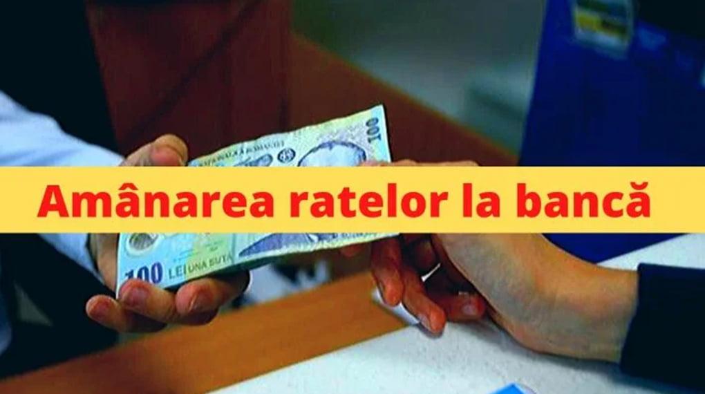 Se amână ratele la bănci!