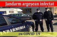Jandarm argeșean infectat cu COVID-19