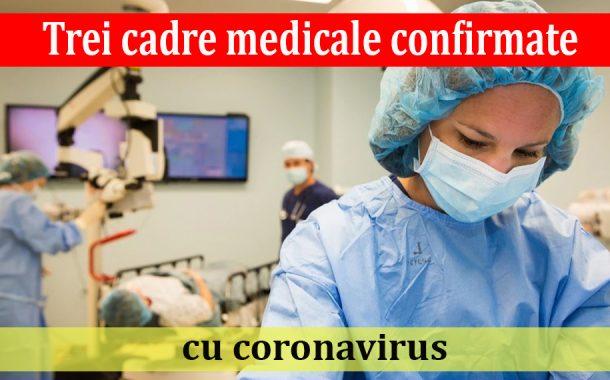 Trei cadre medicale confirmate cu coronavirus