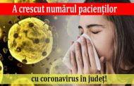 A crescut numărul pacienţilor cu coronavirus în judeţ!