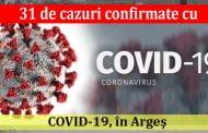 31 de cazuri confirmate cu COVID-19, în Argeş