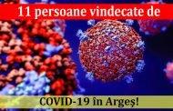 11 persoane vindecate de COVID-19 în Argeş!