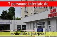 7 persoane infectate de medicul de la Județean!