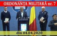 ORDONANȚA MILITARĂ nr. 7 din 04.04.2020