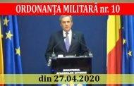 ORDONANȚA MILITARĂ nr. 10 din 27.04.2020