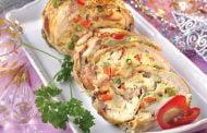 Ruladă cu şuncă şi legume