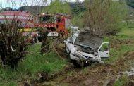 Şofer băut s-a răsturnat cu maşina, la Coşeşti!