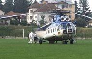 Pacientă cu COVID transferată cu elicopterul!