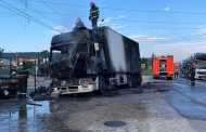 Tir distrus de incendiu la Bascov!
