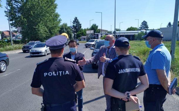 Poliţiştii şi jandarmii, fac ample razii în oraş!