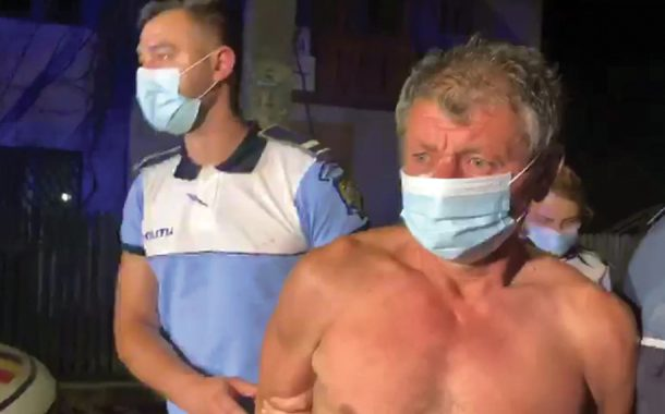 Polițist lovit cu bâta-n cap!