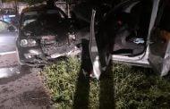 Șofer fără permis a lovit două mașini și o rulotă!