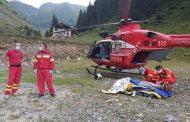 Turist epuizat și probleme digestive preluat de elicopter din Făgăraș!