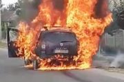 Maşină nouă, în flăcări!
