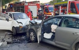 Accident cu 3 maşini pe strada Depozitelor!