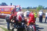 Pompier bulgar rănit în accident