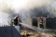 Proprietarii au ajuns la spital după incendiu
