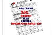 3,5 % din impozit, către asociaţia non-profit din Mioveni