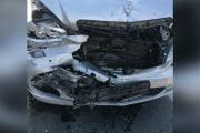 Accident cu trei maşini la ieşirea din Piteşti!