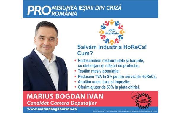 Bogdan Ivan: Dacă nu luăm măsuri urgent, sectorul HoReCa va dispărea!