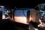 Camionetă răsturnată pe A1!