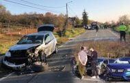 Accident cu patru mașini!