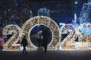 S-a aprins iluminatul festiv, la Mioveni