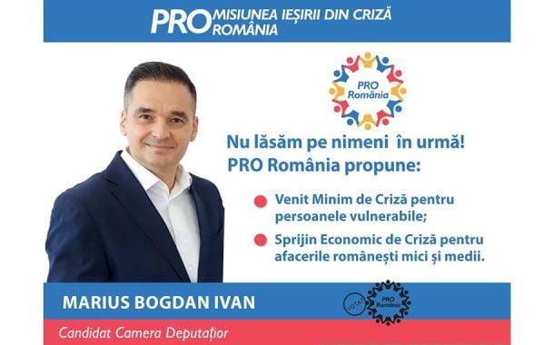 Bogdan Ivan (PRO România) ȋndeamnă alegătorii să analizeze candidații, ȋn ultima săptămână de campanie!