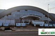 Construcţia Sălii Sporturilor din Mioveni, în grafic