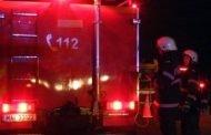Pompierii intervin la Carrefour