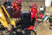 Muncitor prins sub pământ la Băbana