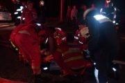 5 răniți după ce mașina a căzut în râpă la Cotmeana