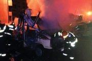 5 maşini distruse de incendiu