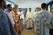 Liturghie ţinută de Calinic la fostul Penitenciar Pitești