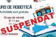 Pandemia a suspendat cursul de robotică!