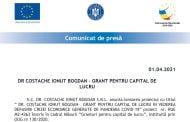 DR COSTACHE IONUT BOGDAN – GRANT PENTRU CAPITAL DE LUCRU