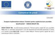 """Începere implementare măsura """"Granturi pentru capital de lucru acordate beneficiarilor"""" - EMIAN GROUP SRL"""