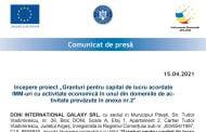 """Incepere proiect """"Granturi pentru capital de lucru acordate IMM-uri cu activitate economică în unul din domeniile de activitate prevăzute în anexa nr.2"""""""