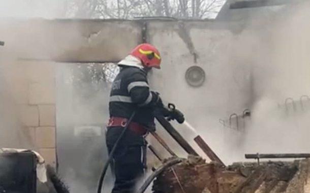 A murit în incendiu!