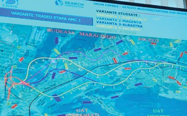 Două variante de traseu pentru drumul expres Piteşti - Braşov