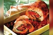 Ruladă de porc cu mere şi nuci