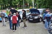 Expoziție cu mașini istorice și de curse la Muzeul Județean Argeș