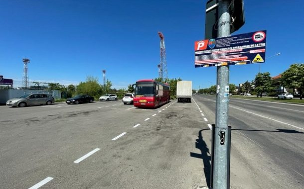 Parcare amenajată pentru maşini mari, la stadion!