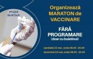 Maraton de vaccinare în holul Prefecturii Argeş!