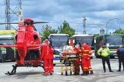Bebeluş dus cu elicopterul la Bucureşti!
